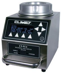 Climet CI-95A Microbial Sampler with Label Printer
